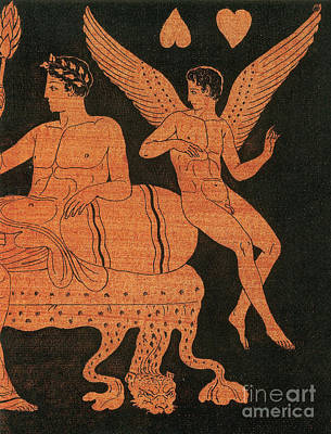 Eros, Greek God Of Love Poster by Photo Researchers