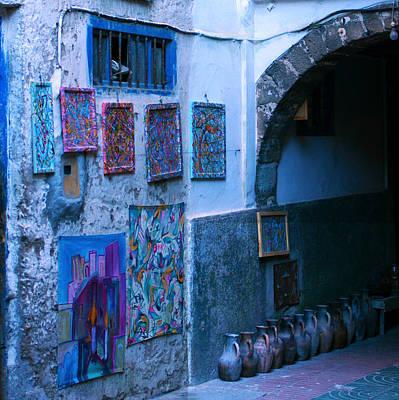Essaouira Blue Moroccan Poster