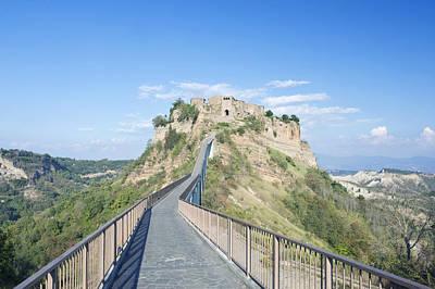 Europe Italy Umbria Civita Bridge Poster