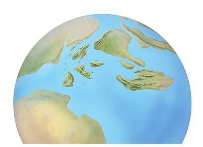 Europe, Late Jurassic Period, Artwork Poster by Gary Hincks