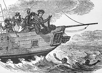 European Sailors Throwing African Poster