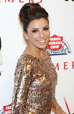 Eva Longoria In Attendance For Padres Poster by Everett