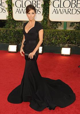 Eva Longoria Wearing A Zac Posen Gown Poster by Everett