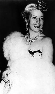 Eva Peron, Circa Late 1940s Poster by Everett