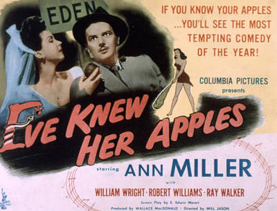 Eve Knew Her Apples, Ann Miller Poster by Everett