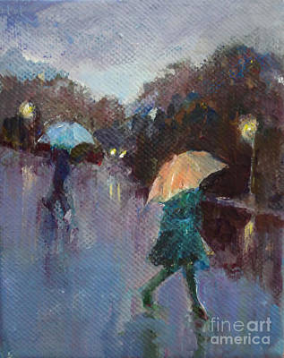 Evening Rain Poster