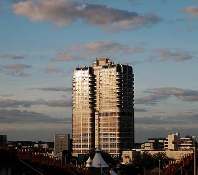 Evening View Of Murray John Tower In Swindon Poster