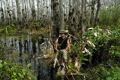Everglades Self Portrait Poster by David Lee Thompson