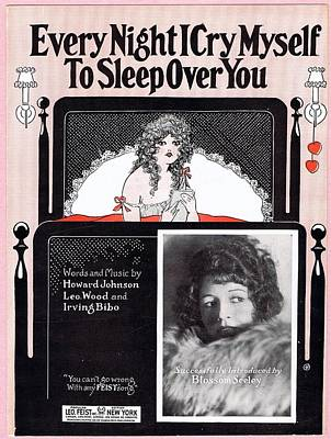 Every Night I Cry Myself To Sleep Over You Poster by Mel Thompson