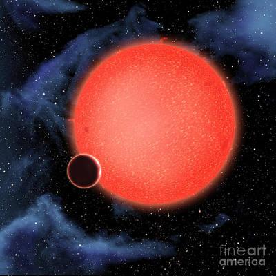 Exoplanet Gj 1214b Illustration Poster by NASA / European Space Agency
