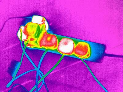 Extension Lead, Thermogram Poster by Tony Mcconnell