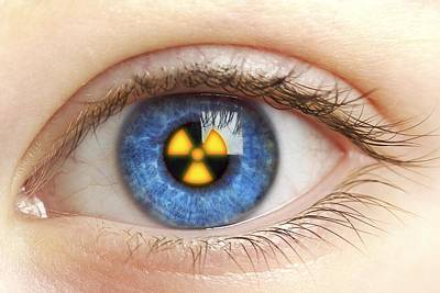 Eye With Radiation Warning Sign Poster