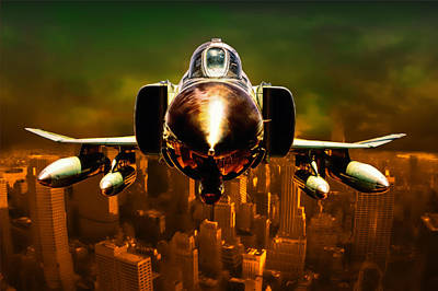 F-4 Poster by Michael Cleere