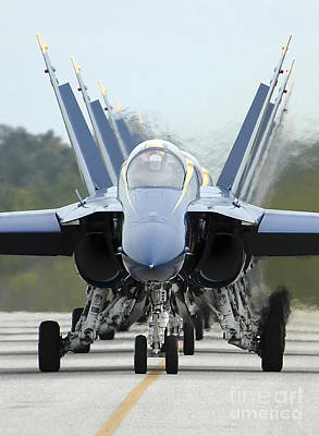 Fa-18a Hornets Assigned To The Blue Poster