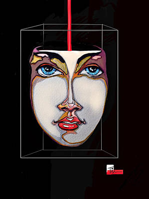 Face In A Box Poster by Tim  Conroy