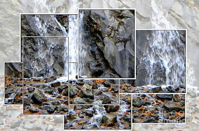 Face In Helen Hunt Falls Poster by Michelle Frizzell-Thompson