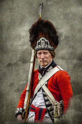 Faces Of The American Revolution British Soldier Portrait Poster