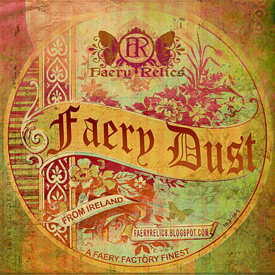 Poster featuring the digital art Faery Dust by Nada Meeks