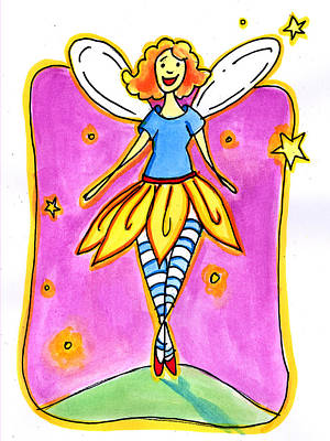 Poster featuring the mixed media Fairy Note by Nada Meeks