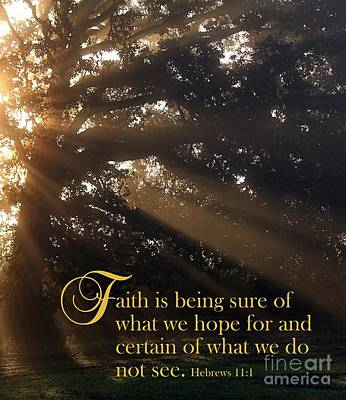 Faith Is Poster by Erica Hanel