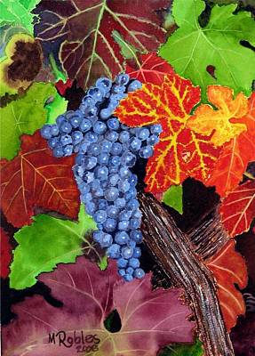 Fall Cabernet Sauvignon Grapes Poster