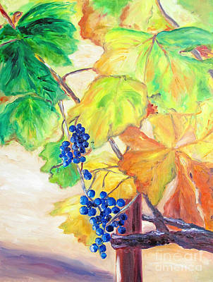 Poster featuring the painting Fall Grapes by Barbara Anna Knauf