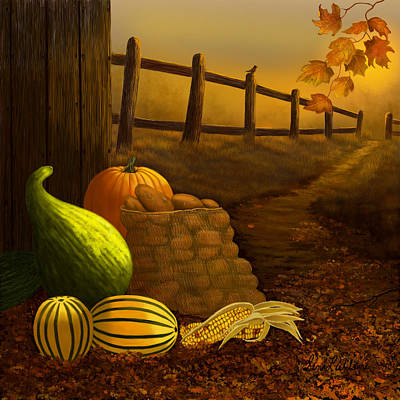 Fall Harvest Poster by Sena Wilson
