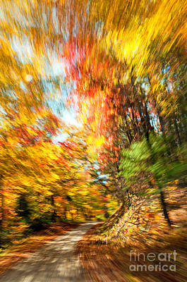 Fall In Motion Poster by Chris Mason