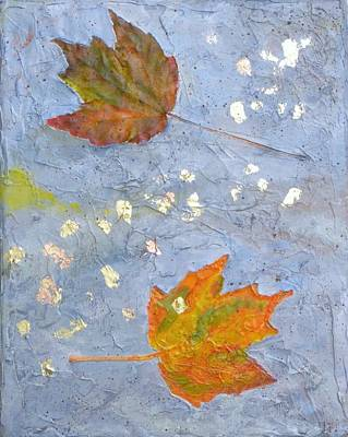 Poster featuring the painting Fall Leaves by Robert Decker