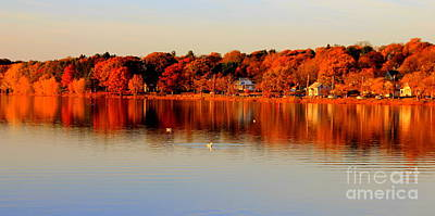 Fall On Horn Pond Poster