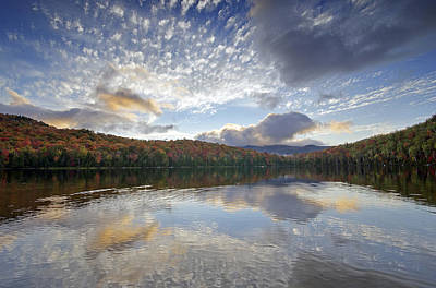Fall Reflections At Heart Lake In Adirondack Park- New York Poster