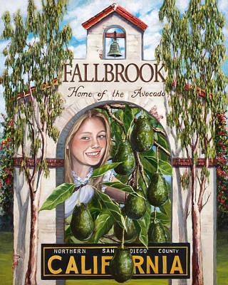 Fallbrook Avos Poster by Lisa Reinhardt