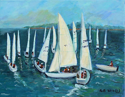 Poster featuring the painting Falmouth Regatta by Rita Brown