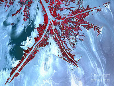 False Color Satellite View Poster by Stocktrek Images