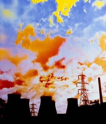 False-colour Photograph Of Ferrybridge. Poster by Dr Jeremy Burgess