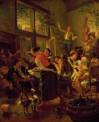 Family Meal Poster by Jan Havicksz Steen