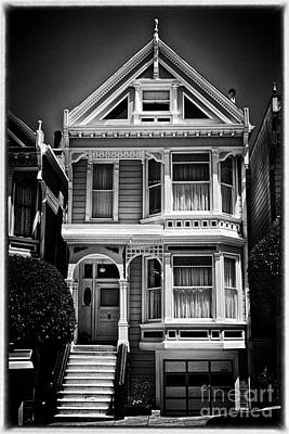 Fancy House Lv - Black And White Poster by Hideaki Sakurai