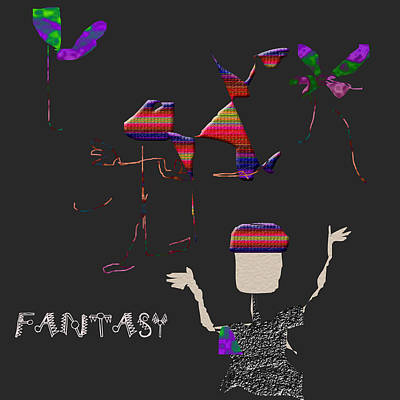 Poster featuring the digital art Fantasy by Asok Mukhopadhyay