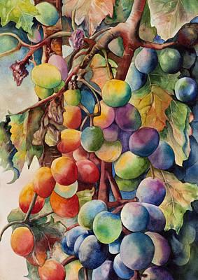 Fantasy Grapes Poster