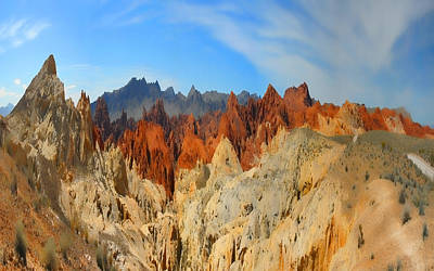 Poster featuring the photograph Fantasy Mountains by Gregory Scott