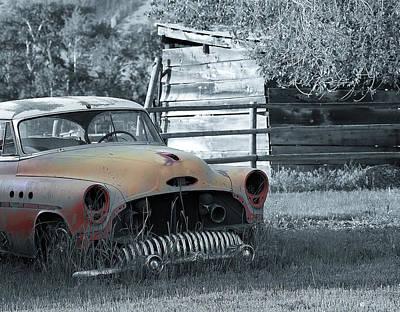 Farm Buick Poster by Steve McKinzie
