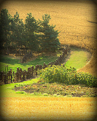 Farm In The Fall Poster