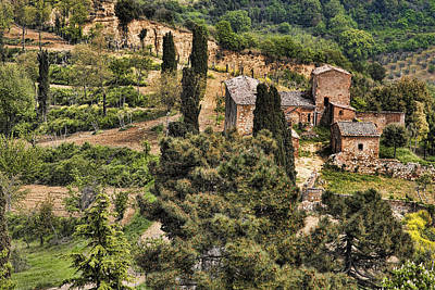 Poster featuring the photograph Farm Orvieto Italy by Hugh Smith