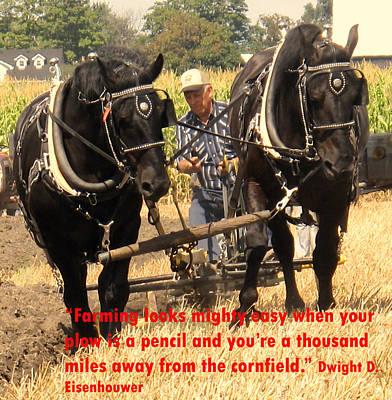 Farming Looks Easy Poster by Ian  MacDonald