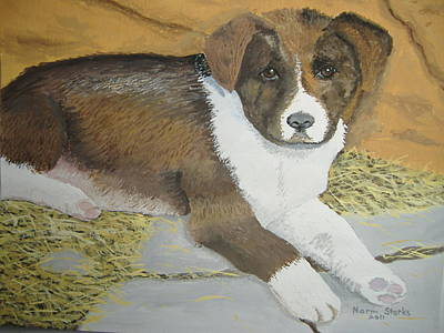 Poster featuring the painting Fat Puppy by Norm Starks