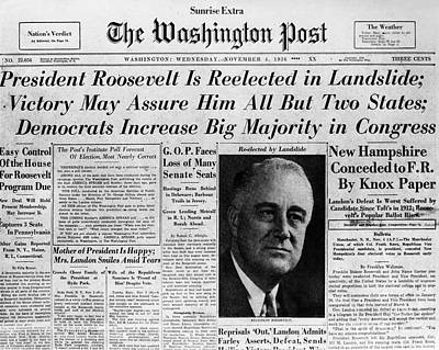 Fdr: Reelection, 1936 Poster