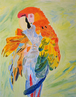 Feathers Showing God's Painting Poster by Meryl Goudey