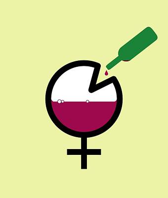 Female Binge Drinking, Conceptual Image Poster by Stephen Wood