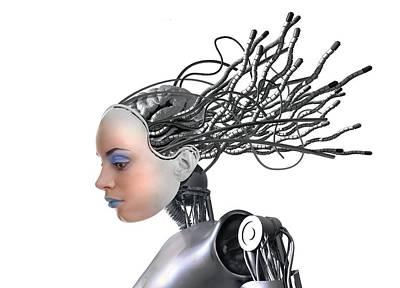 Female Cyborg, Artwork Poster