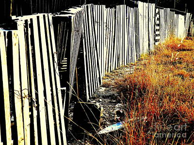 Fence Abstract Poster